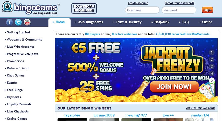 Bingocams bonus code